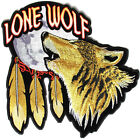 Embroidered Lone Wolf Howling At The Moon Large Back PATCH