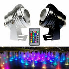 Underwater LED Light Color Changing Wireless Remote Control Lamp Spotlight