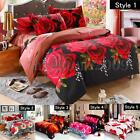 4Pcs 3D Duvet Cover Bed Sheet Pillow Case Quilt Bedding Set Queen King Twin Size
