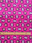 DISNEY FROZEN hearts  : 100% cotton FLANNEL fabric by the FINAL 1/2 metre