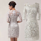Vintage Lace New Mother of the Bride Outfit Wedding Party Prom Dress 6 10 12 16