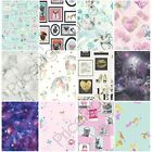 GIRLS WALLPAPER THEMED BEDROOM UNICORN STARS HEART GLITTER CHIC FEATURE WALL NEW