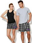 TCU Logo Boxer Shorts Plaid Boxers for Men Ladies Women