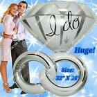 "HUGE RINGS Engagement Wedding Foil Balloons ""I Do"" Bridal Shower Party Supply A"