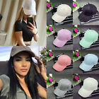 Fashion Men Women Suede Baseball Cap Snapback Visor Sport Sun Adjustable Hat New