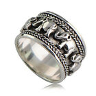 925 silver rings for men - Animal Jewelry Women Man 925 Silver Care Elephant Printing Silver Ring Size 6-10