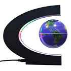 C shape Anti-Gravity Magnetics Levitating Worlds Map Globe LED Light Floating US