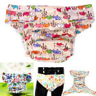 Adult Washable Printed Diaper Nappy Pants Incontinence Reusable Cloth Pants Wd