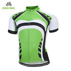Green Mens Short Sleeve Cycling Jersey Top Racing Bike Bicycle Jersey Reflective