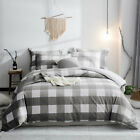 Cotton Duvet Cover Set, 100% cotton yarn dyed buffalo check bedding queen King  image