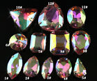 30p pink AB Rhinestone Sew On Crystal Teardrop/navette/oval/round cut glass bead