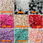 2/3/4/6/8/10mm 9colors Half Pearl Cabochons Beads Flat Back Craft Scrapbooking