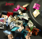 50pcs 2mm square color Point back Crystal glass rhinestones Nail Art decoration