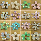 12p white/green/pink opal crystal glass Rhinestones stones beads Multi shape