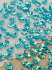 Sequins 5mm Tiny Flower Frozen Blue Crystal AB Iridescent Cup Choose Pack Size