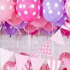 20/40pcs Pink Polka Dot Balloons for Birthday Wedding Indoor/Outdoor Party Decor