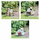 Solar Light Dogs With Crackle Ball Led Garden Light Statue