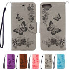 New Butterfly Flip Leather Wallet Phone Case Cover For iPhone 6 7 Samsung Galaxy