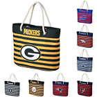 NFL Football Womens Nautical Stripe Tote Beach Bag - Pick Team on eBay