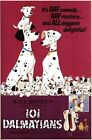 Vintage 101 Dalmations Movie Poster A3/A2/A1 Print