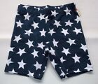 GIRLS PATRIOTIC  4th of JULY  PLAYGROUND PLAY BIKE SHORTS WHITE STARS  (blue)