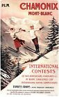 Vintage Edwardian Chamonix Ski Jumping Competition Poster A3/A2/A1 Print