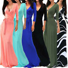 UK LADY Slim Fit Formal Long Wedding Prom Gown Bridesmaid Cocktail Evening Dress