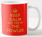 KEEP CALM AND FIRE UP THE FOWLER MUG steam traction ploughing engine rally mugs