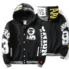 New Japan Mens Warm Hoodie Hooded Coat Jacket Sweatshirt Casual Pullover