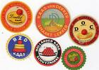 6 ORIGINAL VINTAGE DUTCH CHEESE LABELS - CHEESES