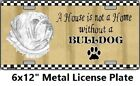 Bulldog Metal Wall Sign home decor Pet rescue forever bull dog lover gift #SB