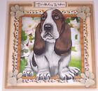 Handmade Greeting Card 3D All Occasion With A Basset Hound Dog