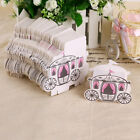10/50/100 Fairytale Princess Carriage Wedding Favour Boxes Candy Chocolate Party