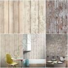 ARTHOUSE WOOD EFFECT WALLPAPER - WHITE WASHED, SKANDI PLANK, CABIN WOOD