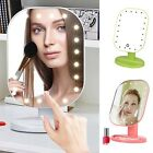 New 20 LED Lights Makeup Mirror Touch Screen Lighted Tabletop Cosmetics Mirror