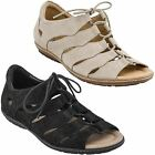 Earth PLOVER Womens Black OR Taupe Nubuck Leather Lace Up Comfort Casual Sandals