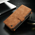 Leather Detachable Magnetic Wallet Card Flip Case Cover For iPhone 6 7 / Samsung
