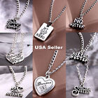 Gift For Family MOM DAD Sister Forever Stainless Steel Necklace Charm Pendant