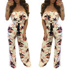 Women Casual Sleeveless Off Shoulder Summer Girls Floral Loose Jumpsuit Playsuit