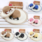 Girls Kids Baby Childrens Summer Bowknot Beach Straw Sun Hat Cap Outdoor