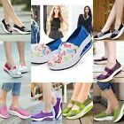 Soft Women Ladies Sports High Top Casual Canvas Sneaker Running Platform Shoes