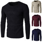 New Men's Slim Jumpers Crew Neck Style Warm Knitted Sweater Pullover Knit Tops