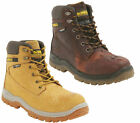 Mens DeWalt Titanium Leather S3 WR Safety Steel Toe Lace Up Boots Sizes 7 to 12