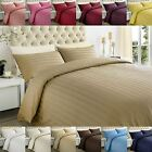 250TC Egyptian Cotton Sateen Stripe Duvet Quilt Cover Bedding Set