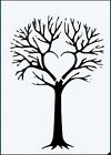 Twiggy Heart Tree 190 micron robust Mylar Stencil - A5 - A4 - A3 ***NEW***
