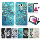 Fashion Pattern PU Leather Wallet Soft TPU Phone Case Cover For LG G3 G4 G5