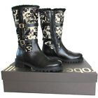 Roberto Cavalli Made in Italy women's fashion black leather & brocade boots $270