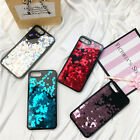 Liquid Glitter Love Heart Sequin Quicksand Case Cover for iPhone 7 6s Plus SE 5S