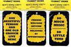 SIGNS OF LIFE LOVE LAUGHTER COMIC HUMOROUS RON'S HANG UPS GIFT SAYINGS PLAQUES 6