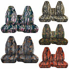 CC 98 -04 Chevy S 10 camo CAR SEAT COVERS with 60/40 highback SEAT W ARMREST